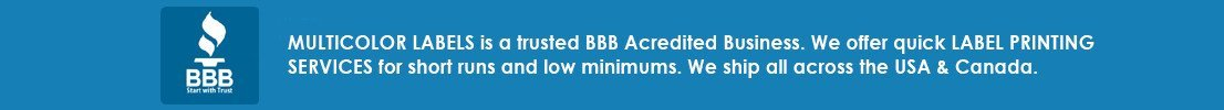 BBB Accredited Business Multicolor Label Banner