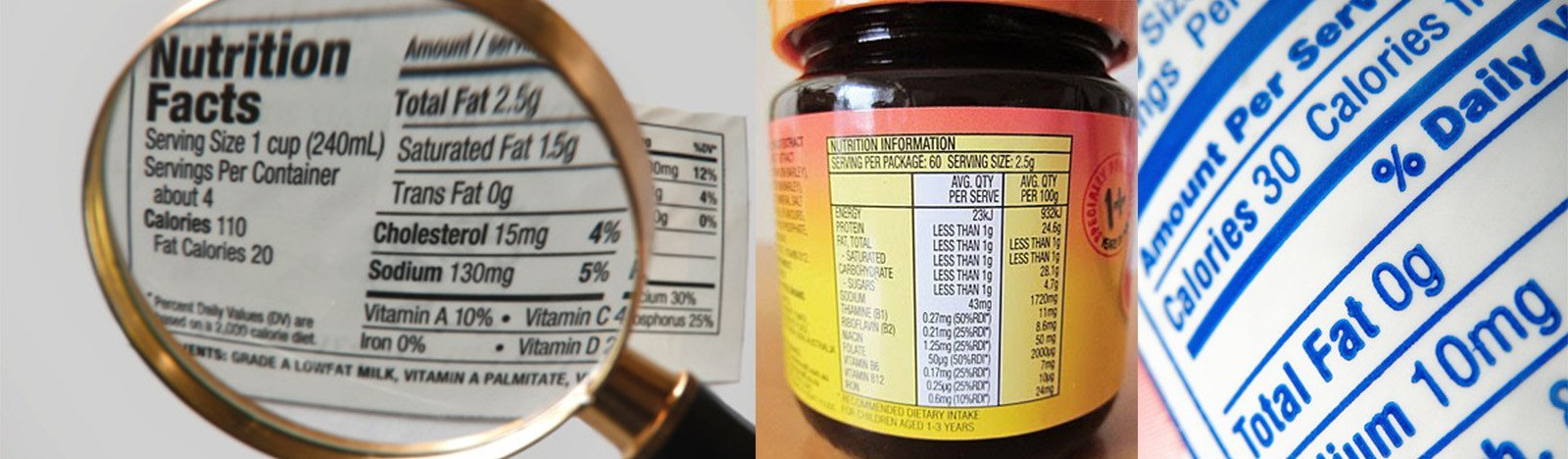 Nutrition facts labels printing