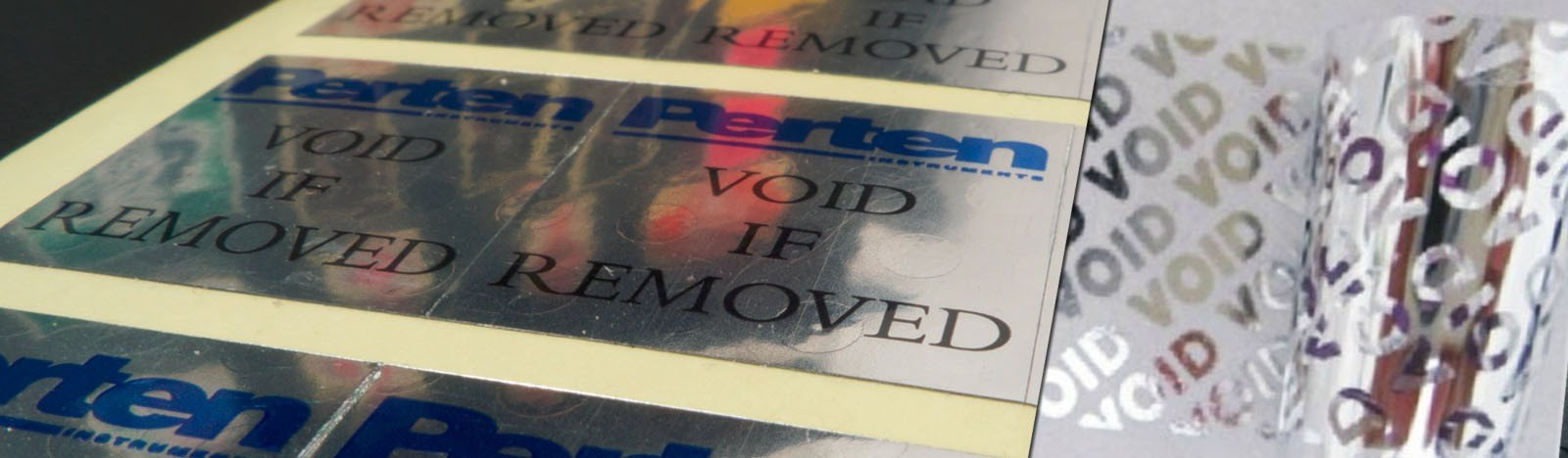 Silver Void Labels