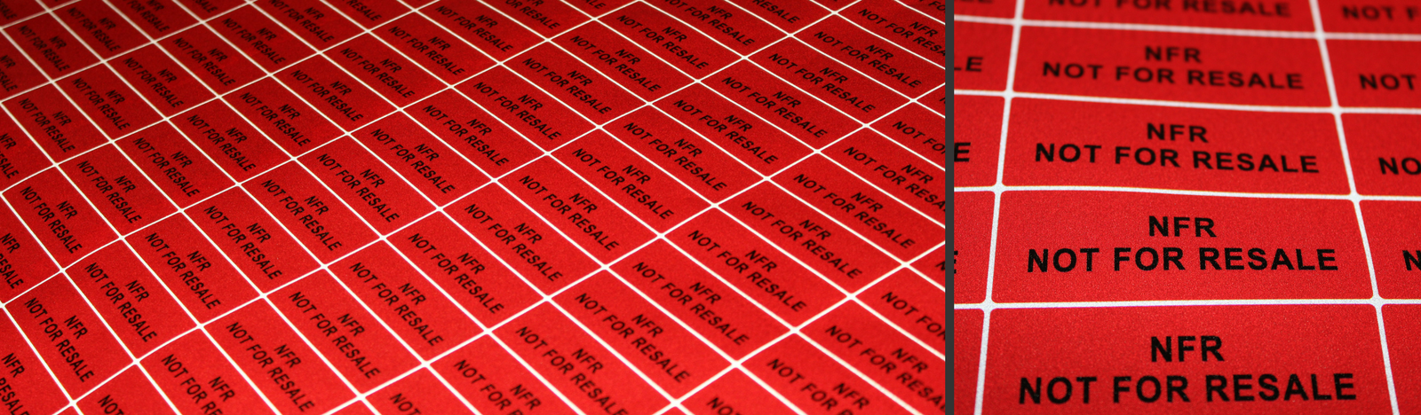 Red Reflective vinyl labels printing